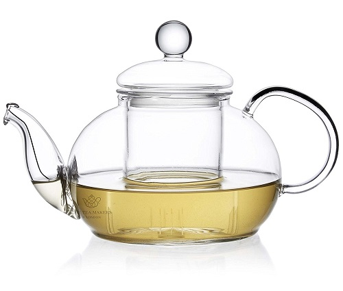 Glass Teapot with Glass Infuser and Coil Filter