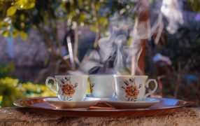 drinking tea in hot weather